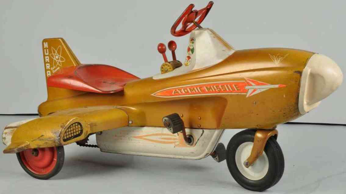 Murray Atomic missile pedal car made of pressed steel chain-driven