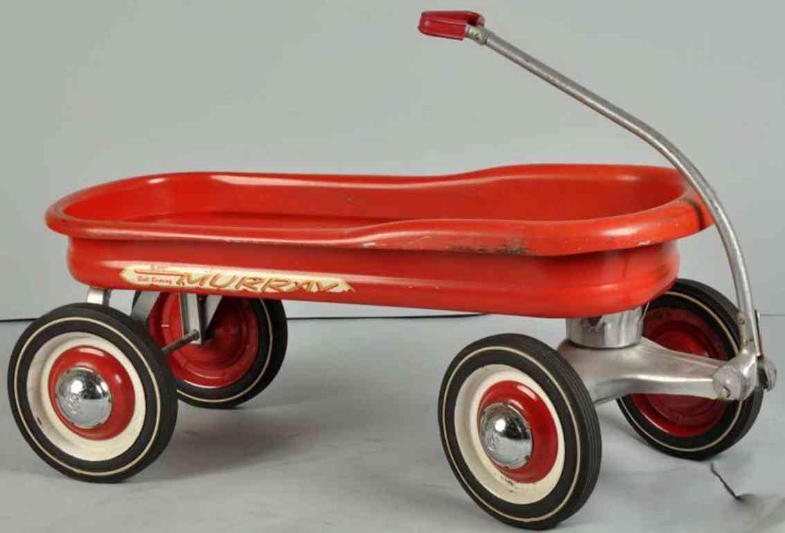 Murray Ball bearing ride wagon made of pressed steel in red