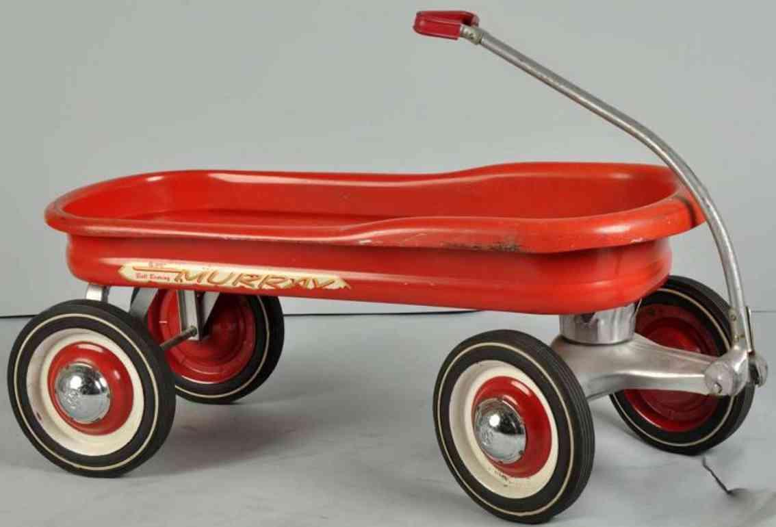 Murray Kugellager-Sitzwagen aus Stahlblech in rot