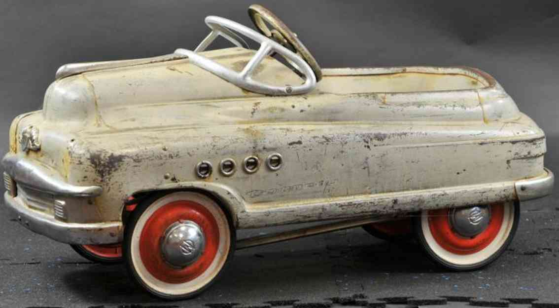 murray pressed steel toy pedal car port hole buick grey