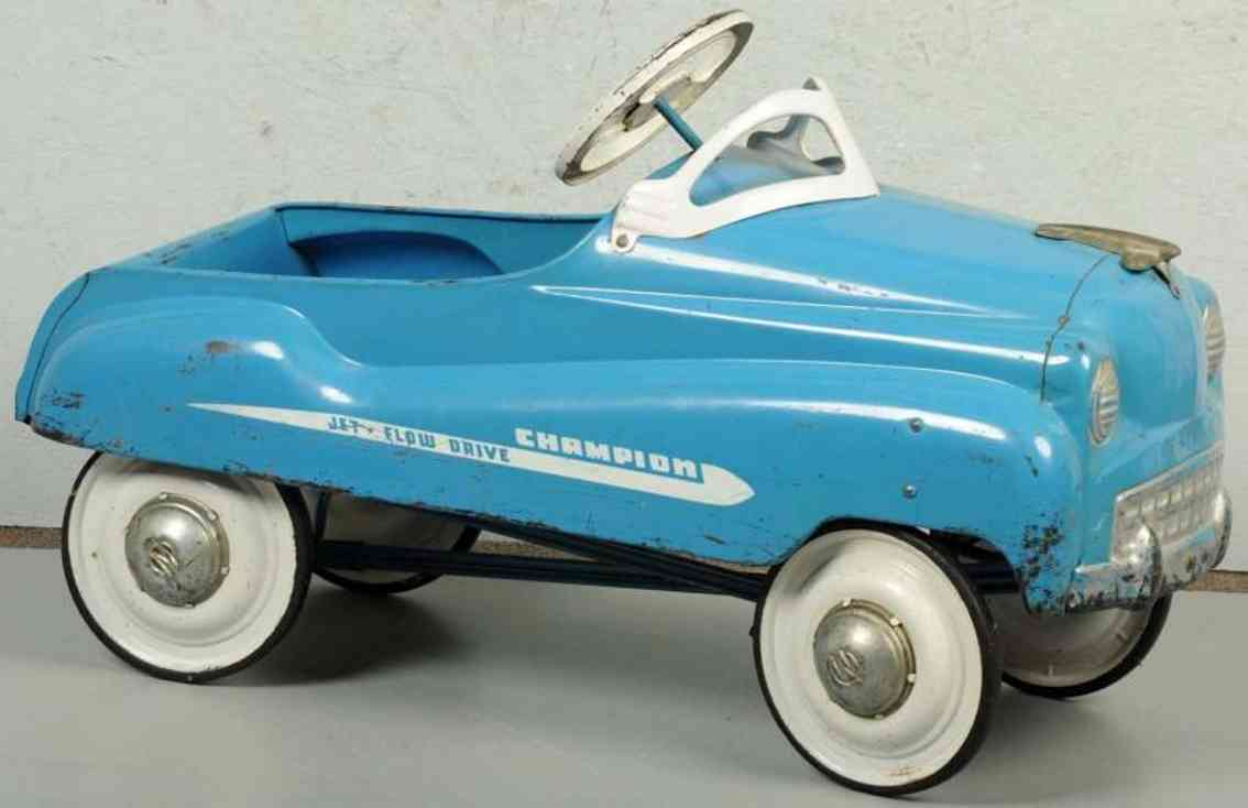 murray pressed steel pedal car champion flow drive blue