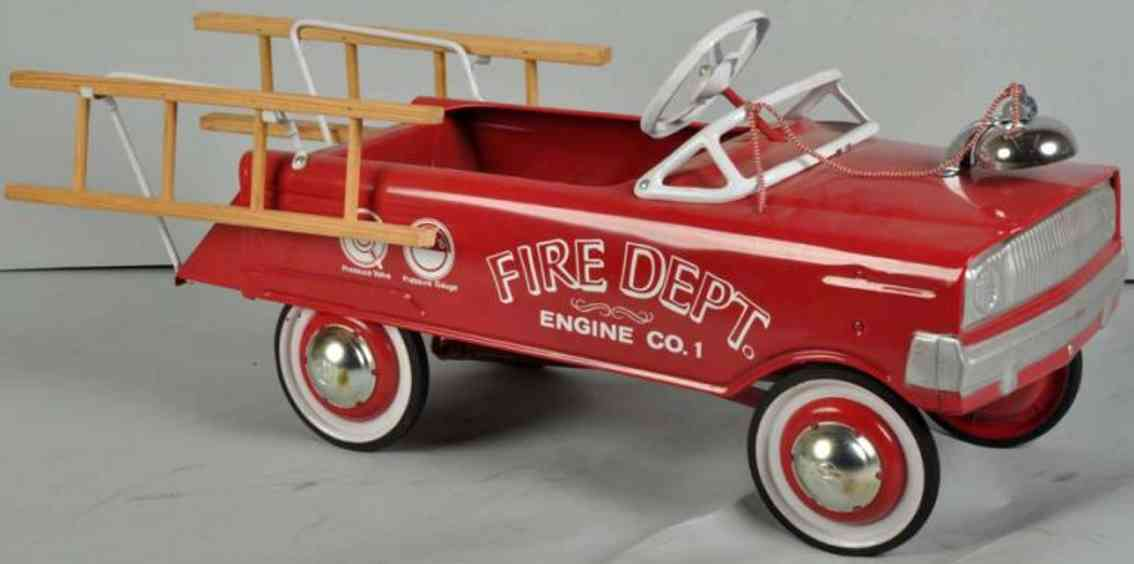murray toy flat-face fire pedal car pressed steel