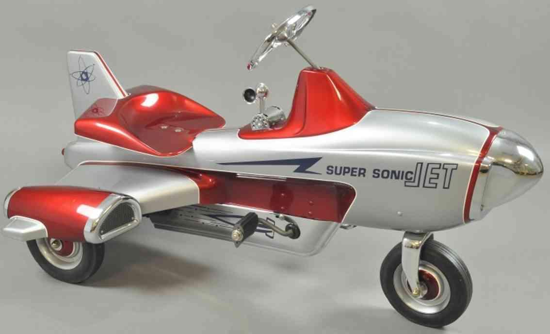 murray blech spielzeug flugzeug tretpedale super sonic jet