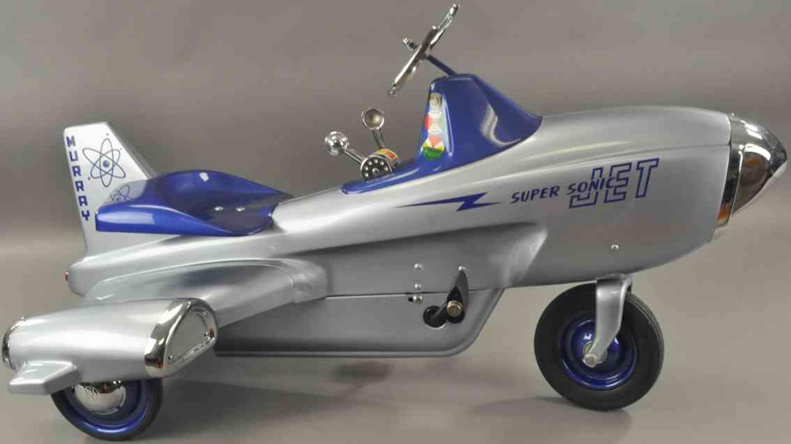 murray blech spielzeug super sonic jet flugzeug als tretauto