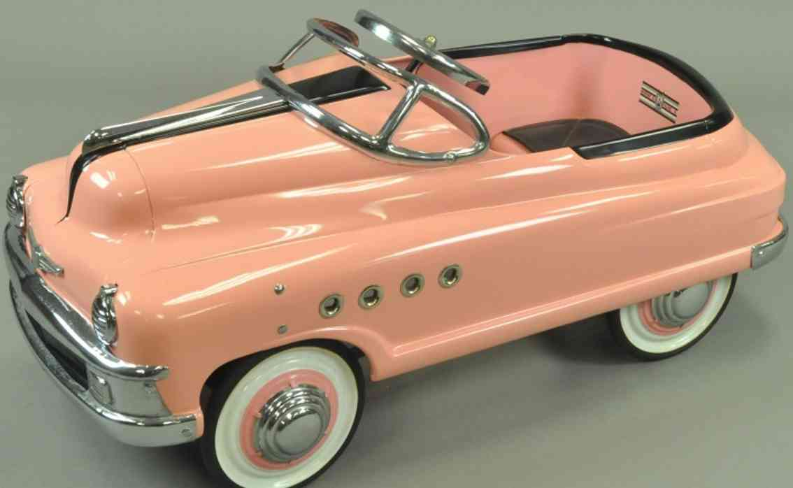 murray blech spielzeug torpedo tretauto buick rosa