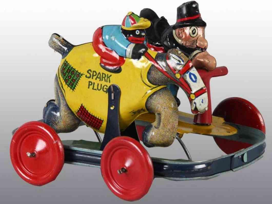 nifty manufacturing car barney google & spark racing tin toy