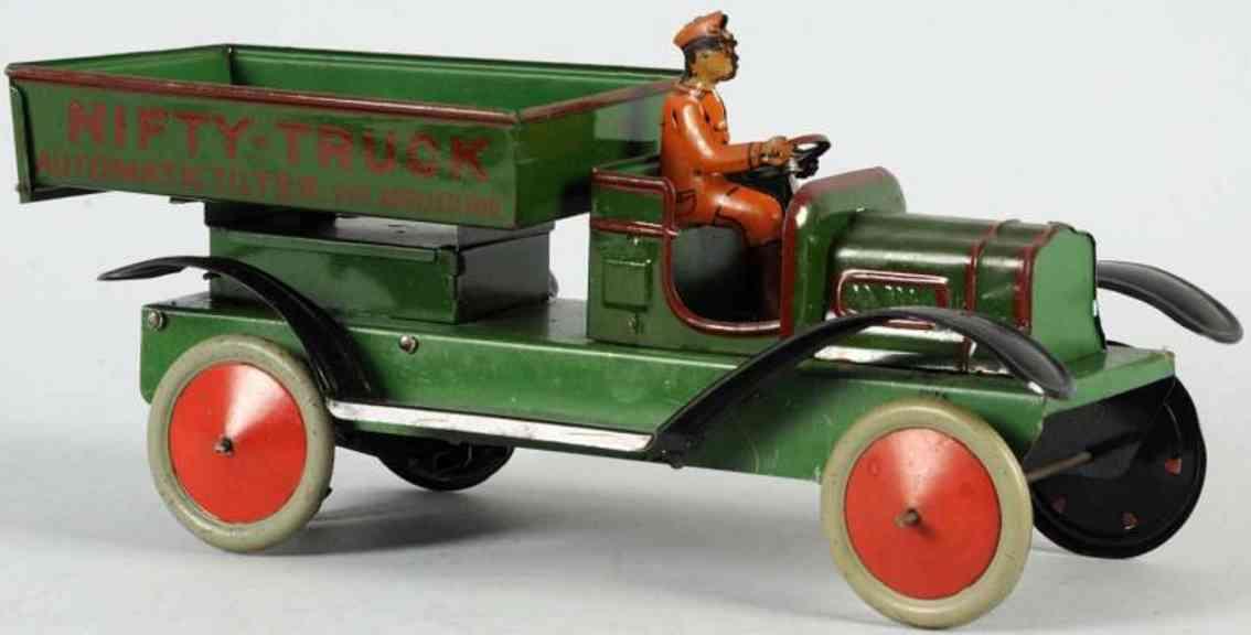 nifty manufacturing company blech kipplastwagen gruen