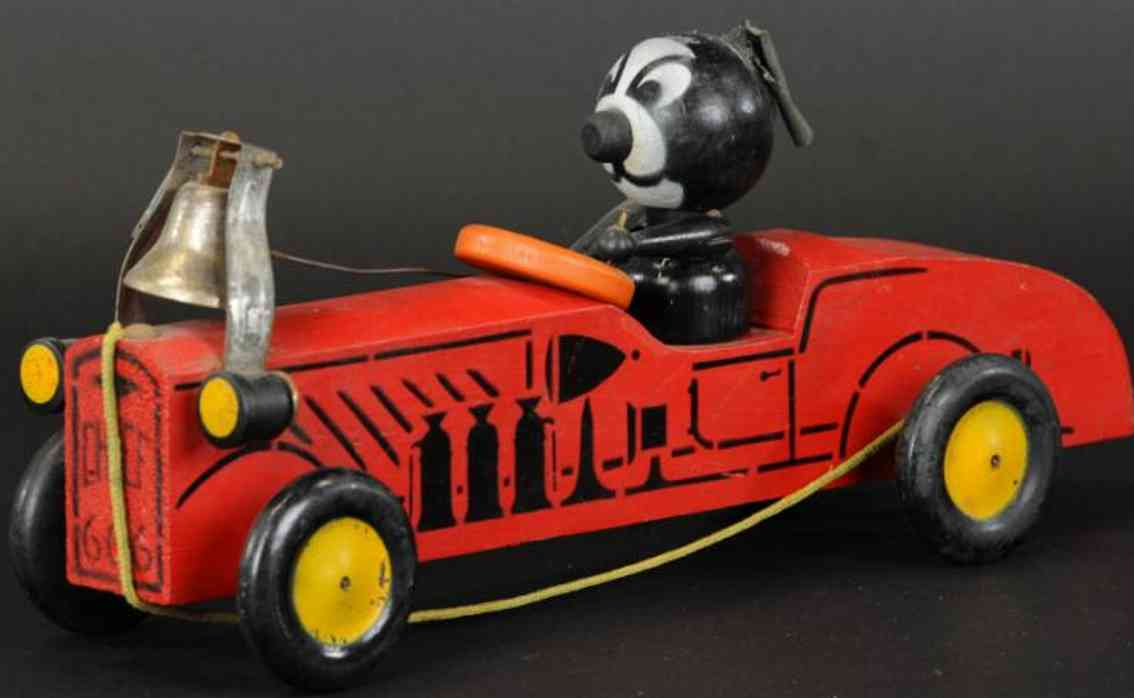 nifty manufacturing company  wooden toy car felix the cat chief car