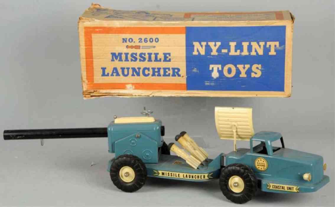 ny-lint co 2600 stahlblech spielzeug lastwagen mit raketenwerfer