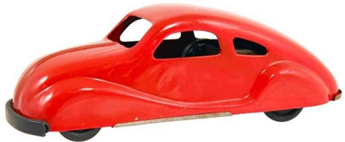 ny-lint co 600 toy car pressed steel wind-up car  red