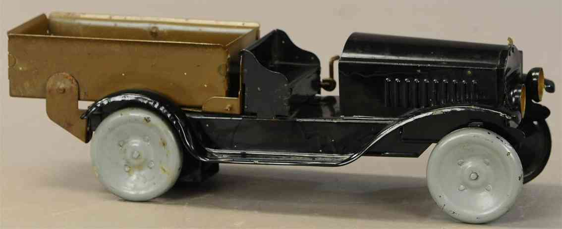 neff-moon toy blech spielzeug auswechselbarer kipplastwagen kabinentyp schwarz braun