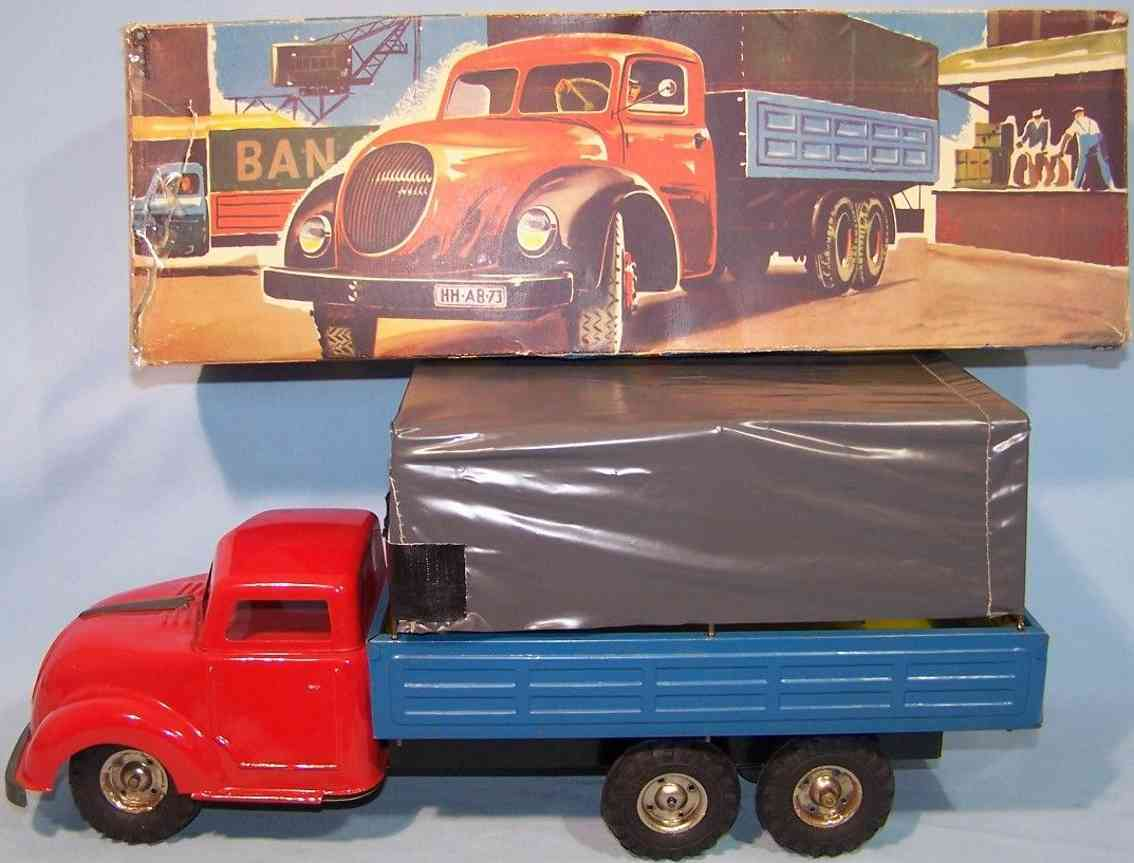 niedermeier philipp 110 tin toy truck with tarpaulin