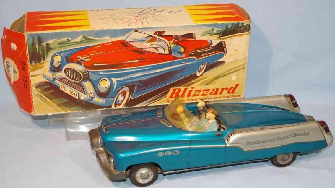 niedermeier philipp 150 blech spielzeug auto blizzard cabriolet metallic blau
