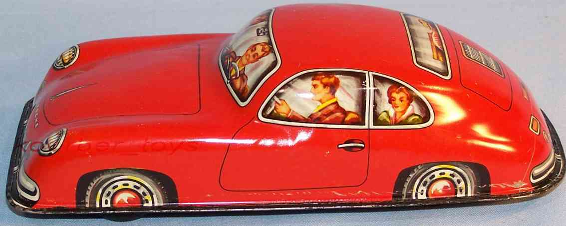 niedermeier philipp 280 tin toy car porsche 356 red flywheel drive