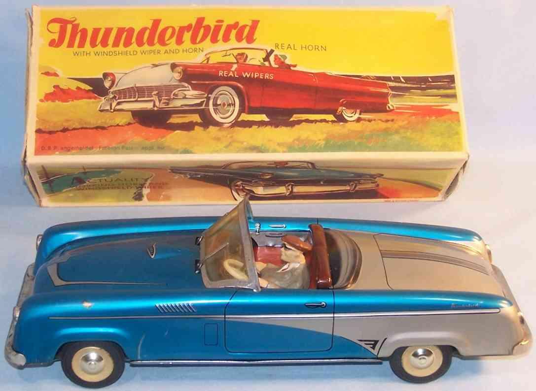 niedermeier philipp 350 blech spielzeug auto thunderbird massefigur schwungrad