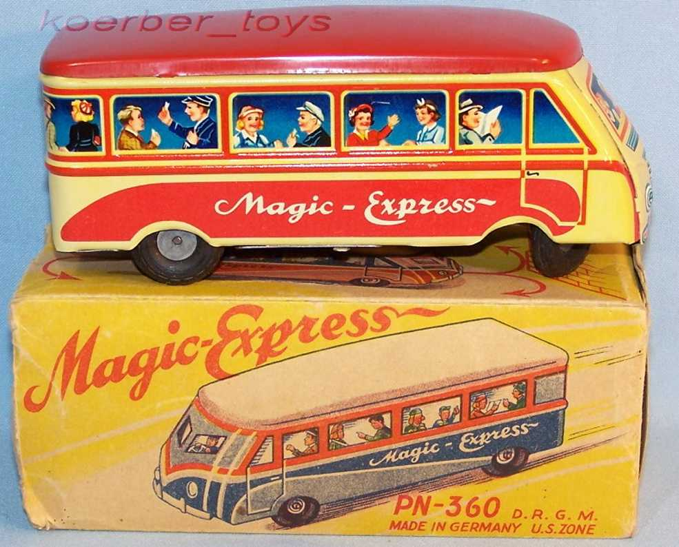 niedermeier philipp 360 blech spielzeug magic-express autobus wendemechanik