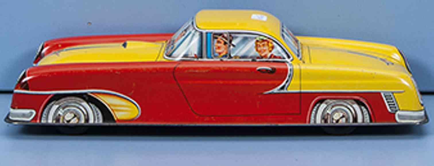 niedermeier philipp tin toy car road cruiser  red yellow