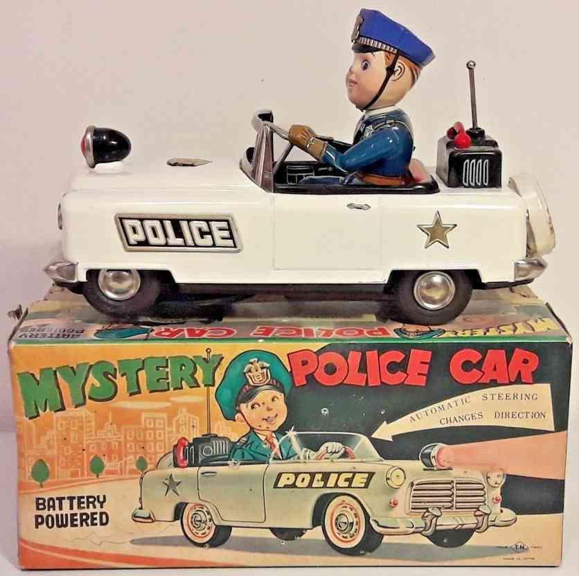 nomura toys blech spielzeug auto batteriebetrieben polizeiwagen