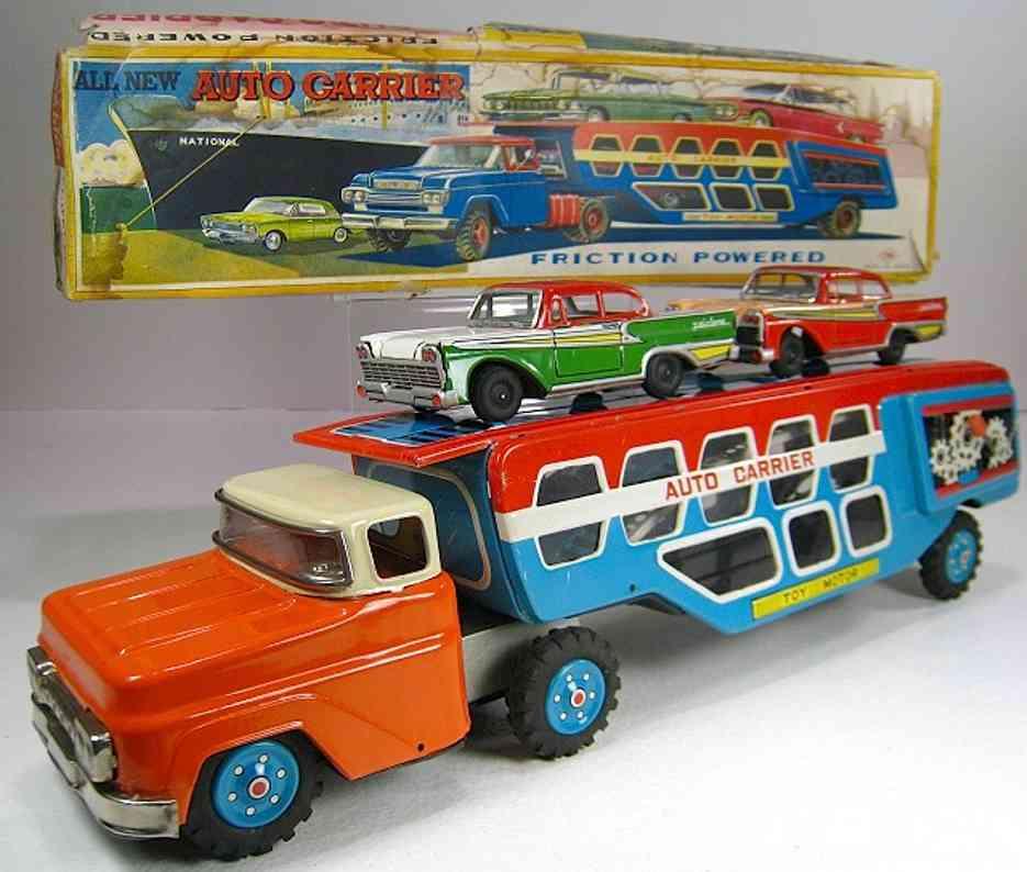 nomura toys blech spielzeug lastwagen autotransportlastwagen mit friktionsantrieb, er ähnelt dem f