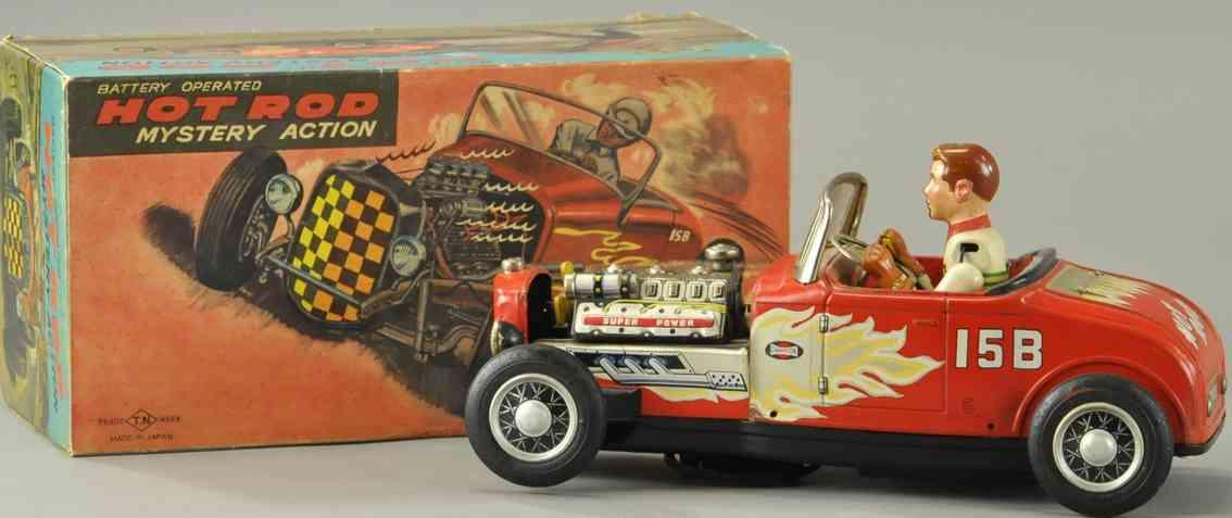 nomura toys blech spielzeug rennauto rennwagen hot rod rot 158