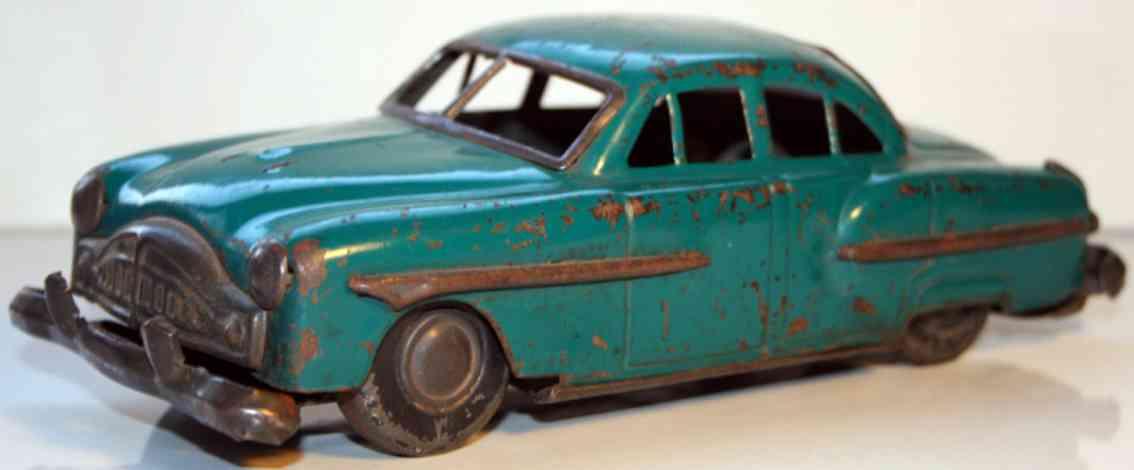 nomura toys blech spielzeug auto auto in blau mit friktionsantrieb