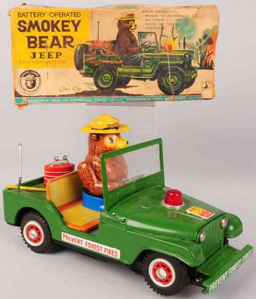nomura toys blech spielzeug auto smokey baer im jeep