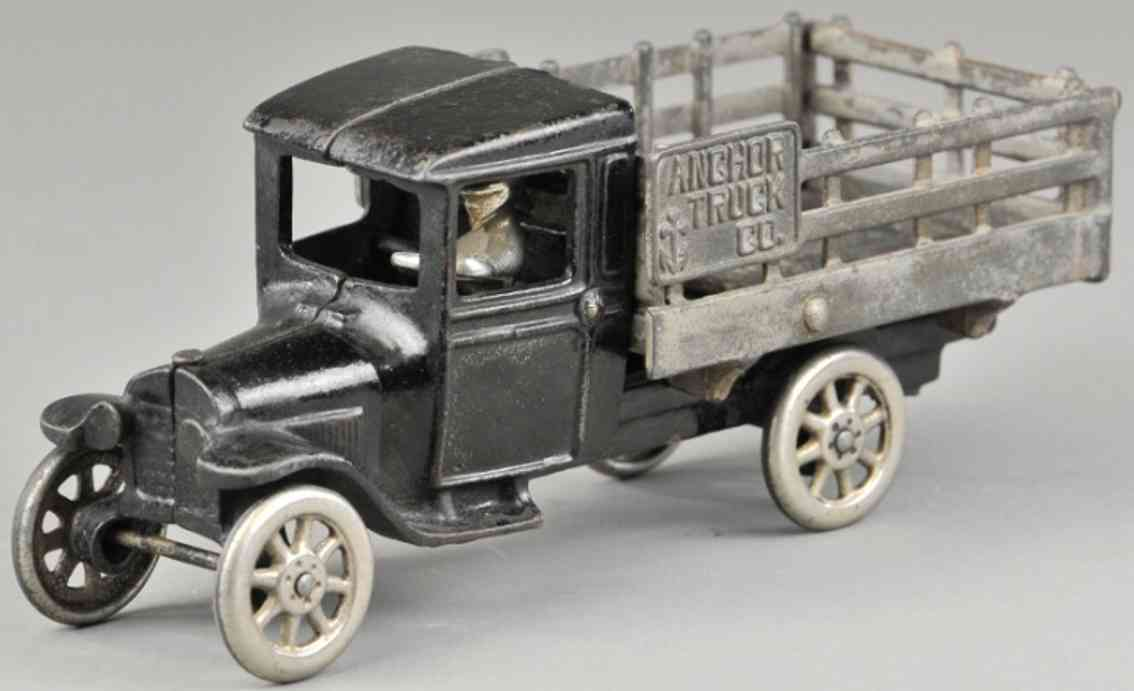 north & judd cast iron toy anchor truck co  black grey