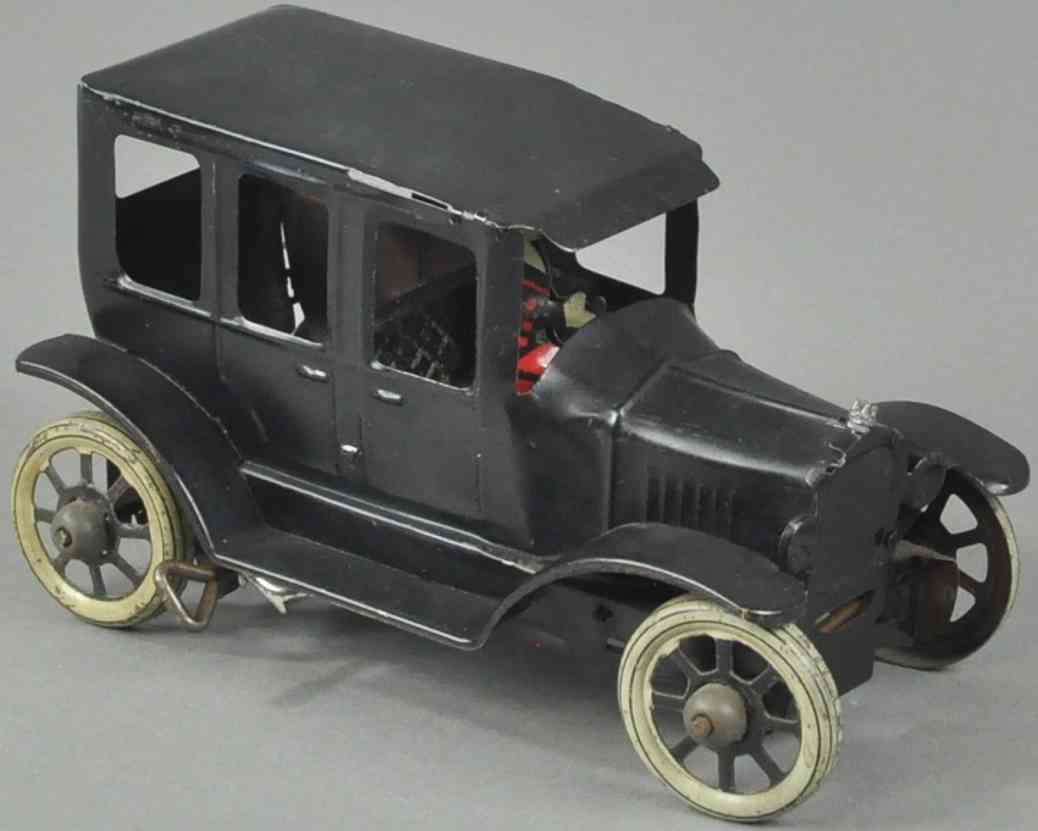 orobr Auto 18,5 blech spielzeug auto schwarz fahrer uhrwerk