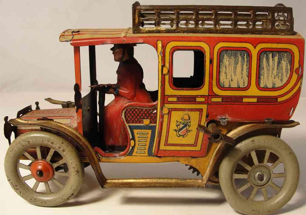orobr blech spielzeug auto limousine mit uhrwerk, aufgezogen fährt er vorwärts