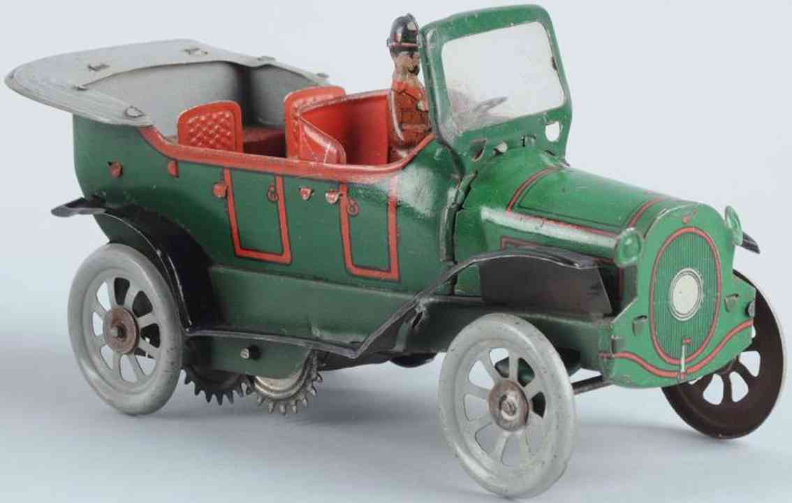 orobr 710 tin toy touring car wind-up driver