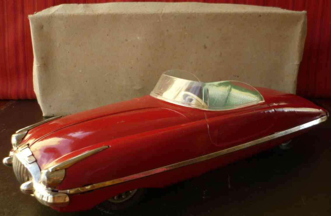 paya blech spielzeug auto packard cabrio friktionsantrieb rot