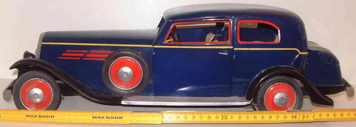 paya blech spielzeug auto limousine blau uhrwerkantrieb