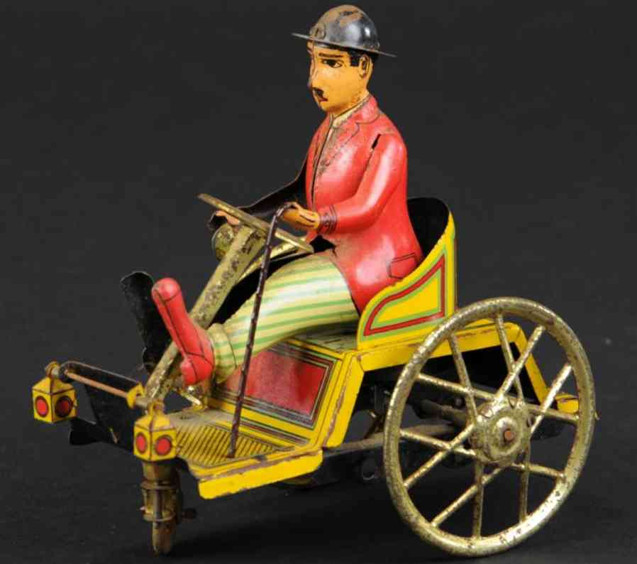 paya tin toy car man in runabot