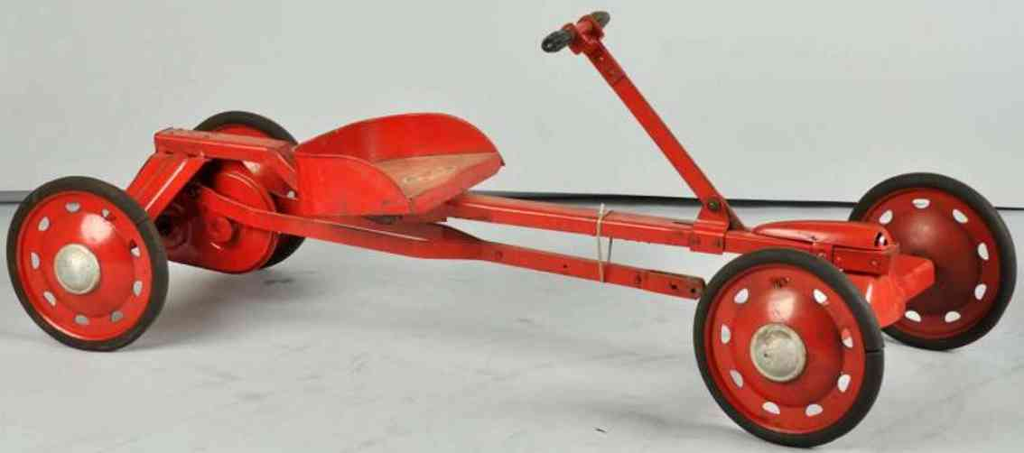 Parsons Company Irish mail ride-on toy made of pressed steel in red