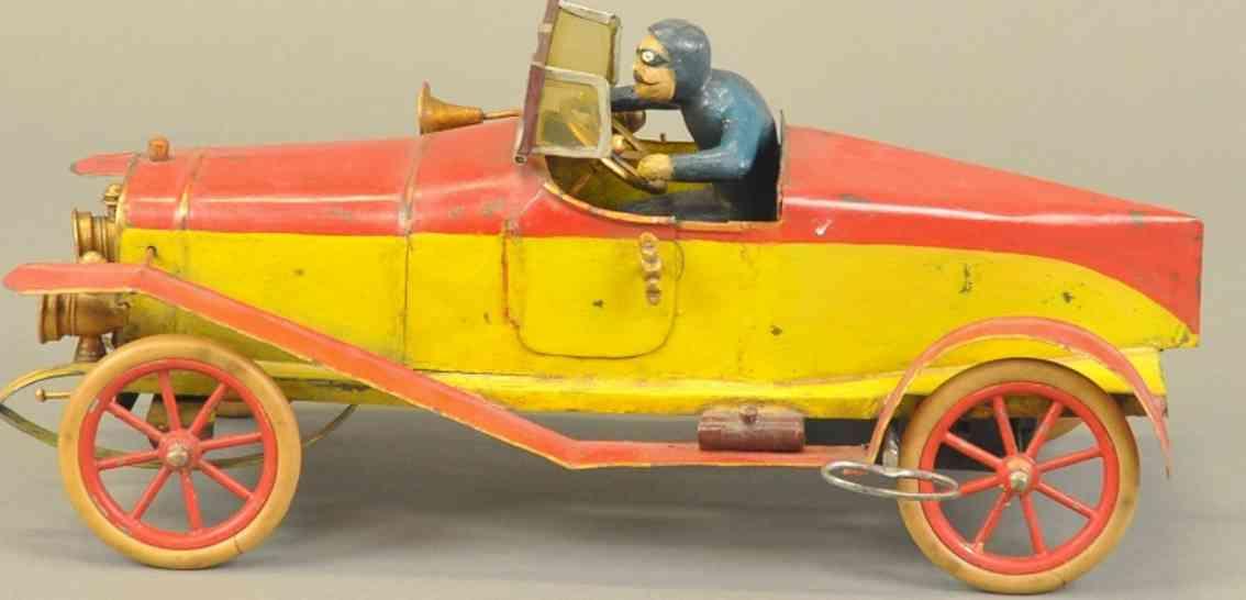 pinard blech spielzeug auto hispana-suiza alfonso 13 rennwagen rot gelb