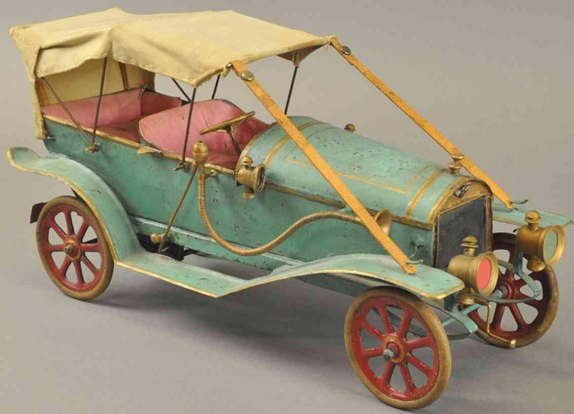 pinard weissblech spielzeug auto hispana-suiza tourenwagen blau