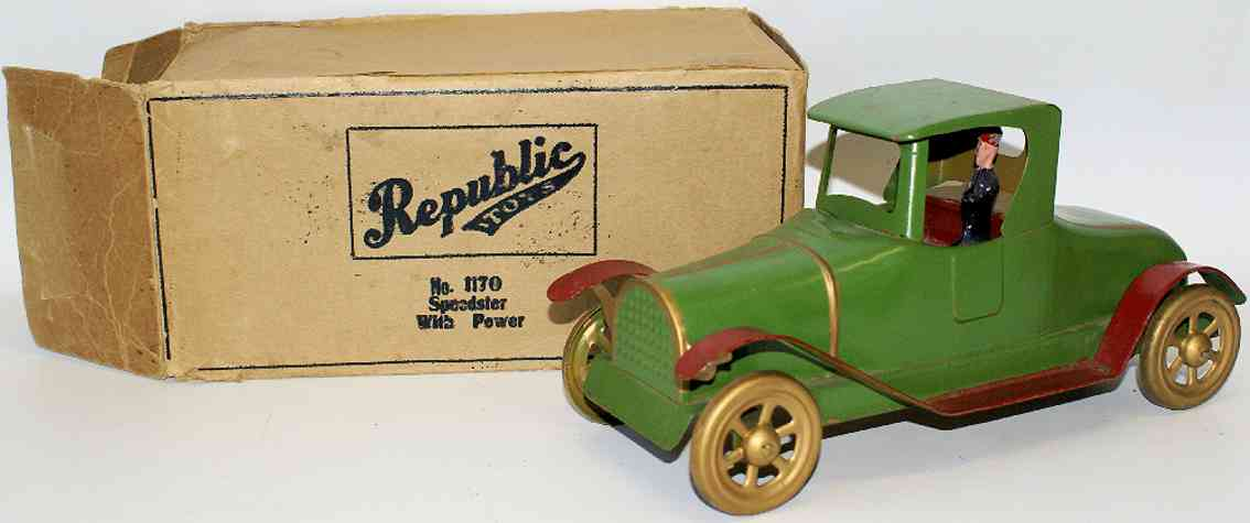 republic tool products co 1170 tin toy car power speedster friction drive