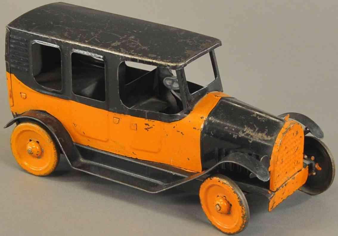 republic tool products co spielzeug taxi stahlblech friktionsantrieb orange schwarz