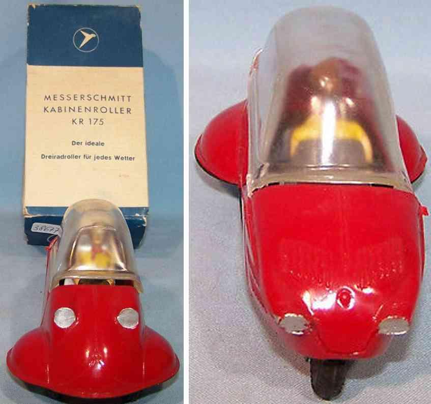 revell kr 175 tin toy car kabinenroller red