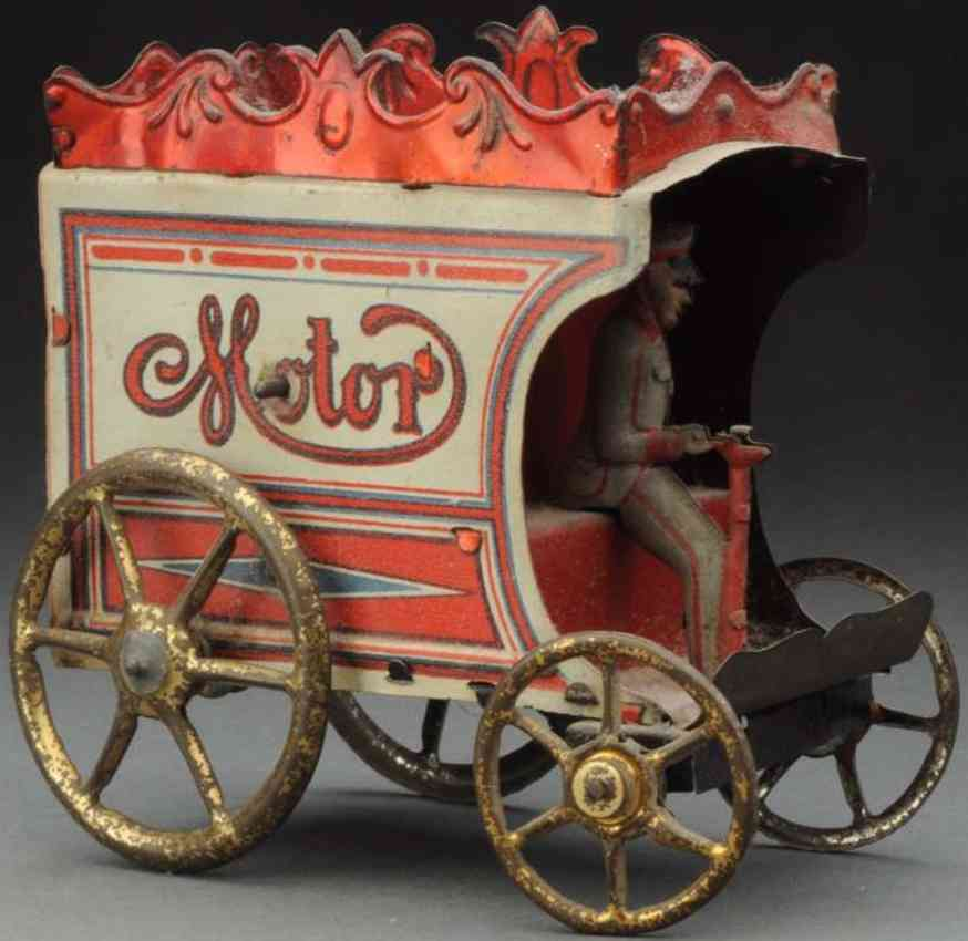 richter & co tin motor coach wind-up toy motor