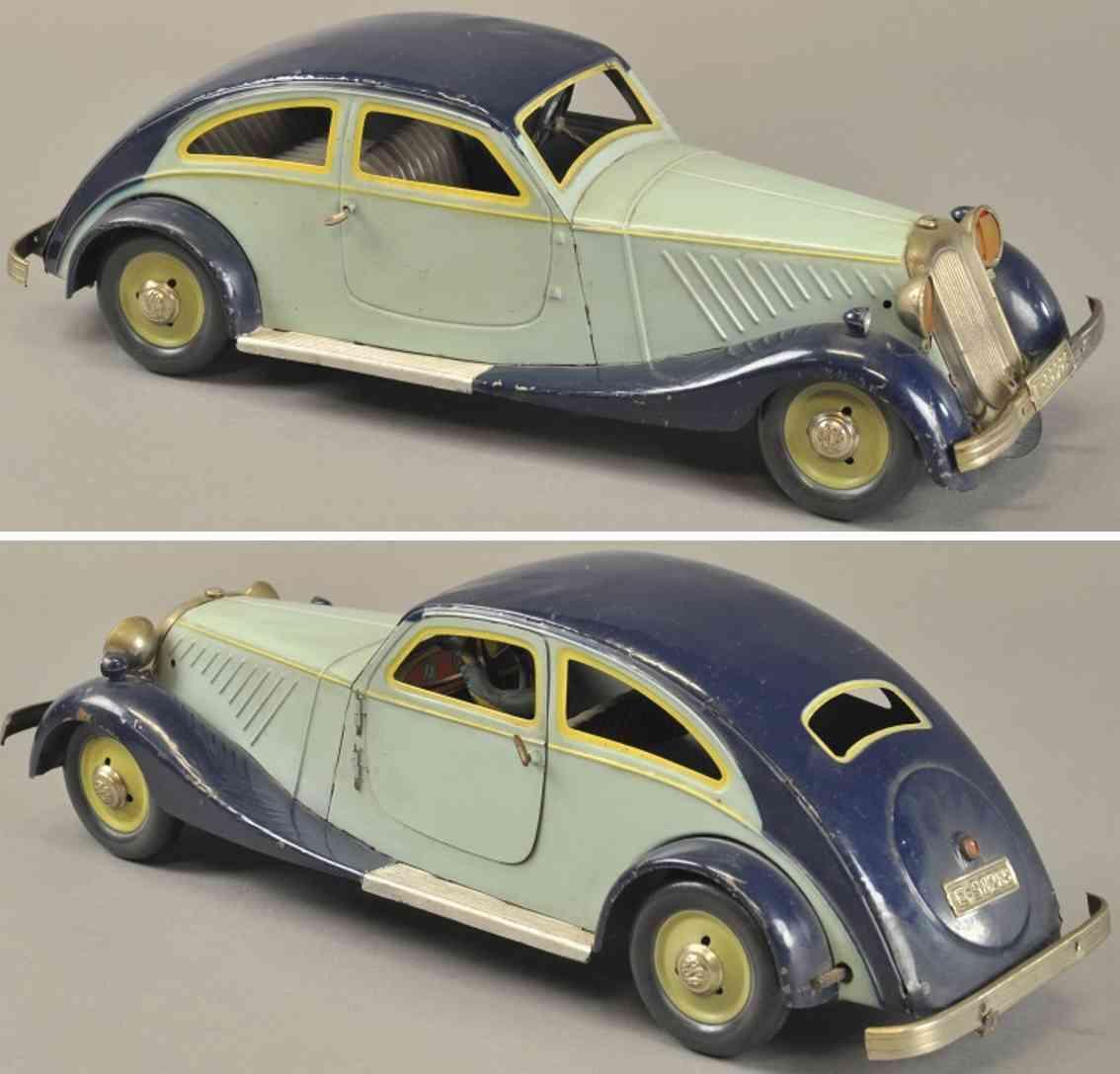 rico blech spielzeug auto coupe limousine  blau