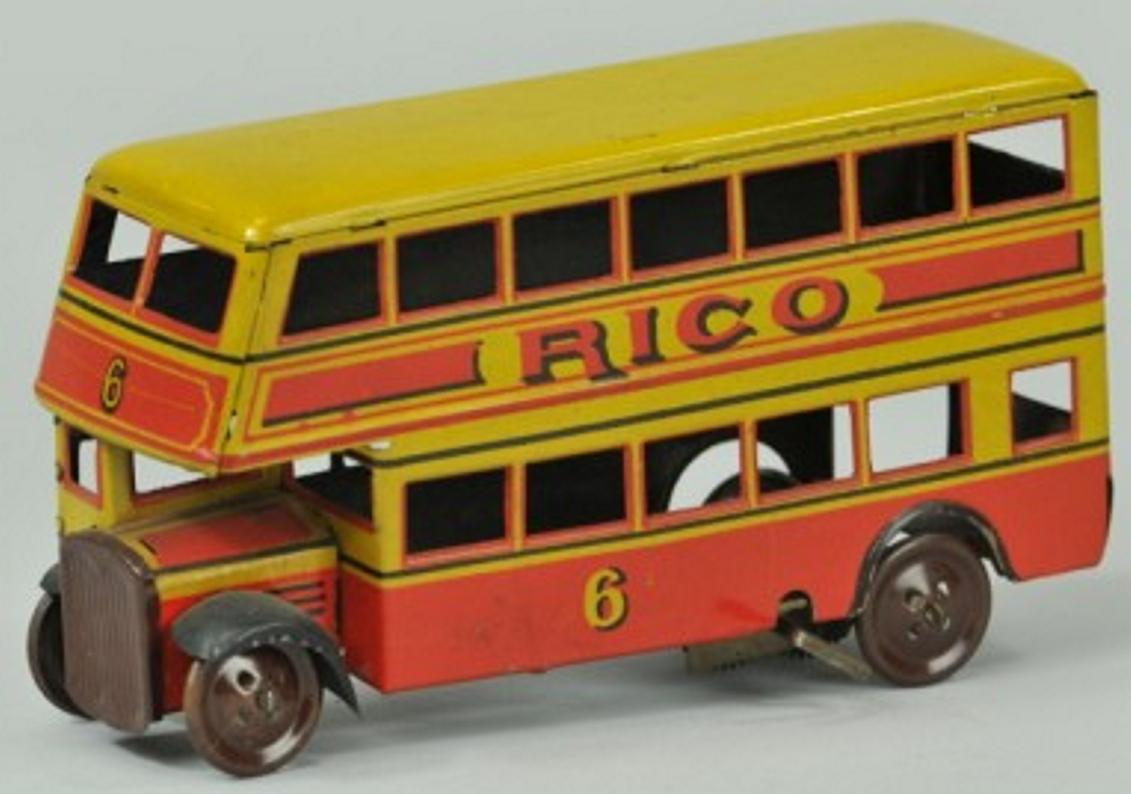 rico blech spielzeug autobus doppeldecker bus