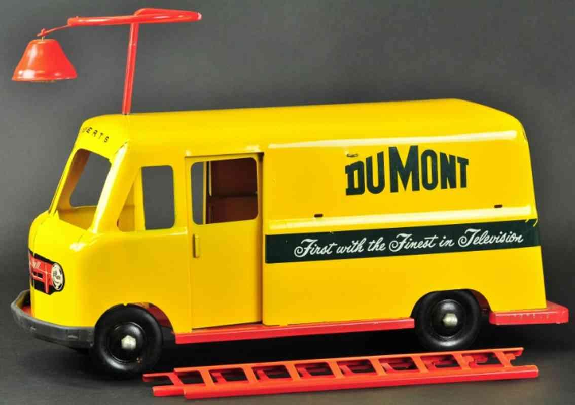 robert's manufacturing co stahlblech aufsitz-rutschauto dumont lieferwagen