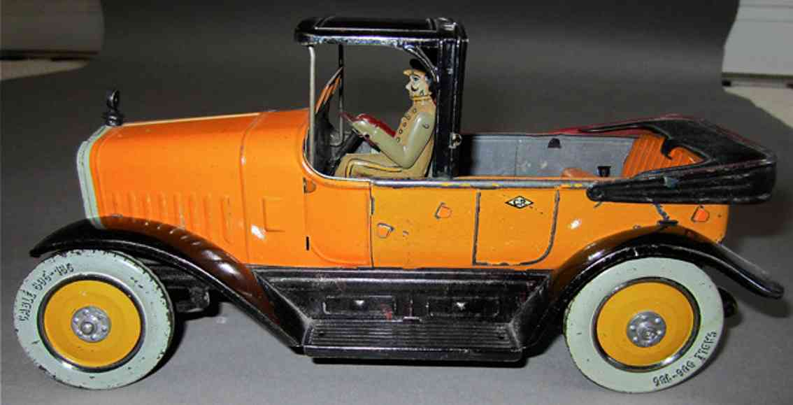charles rossignol blech spielzeug auto limousine lithografiert mit uhrwerk und fahrer