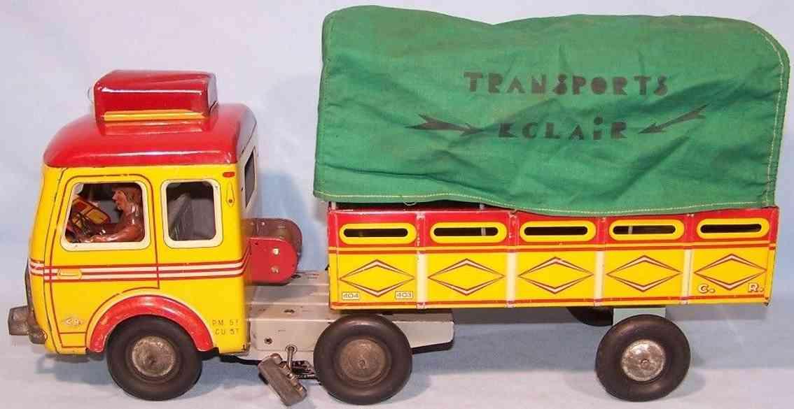 charles rossignol tin toy truck clockwork