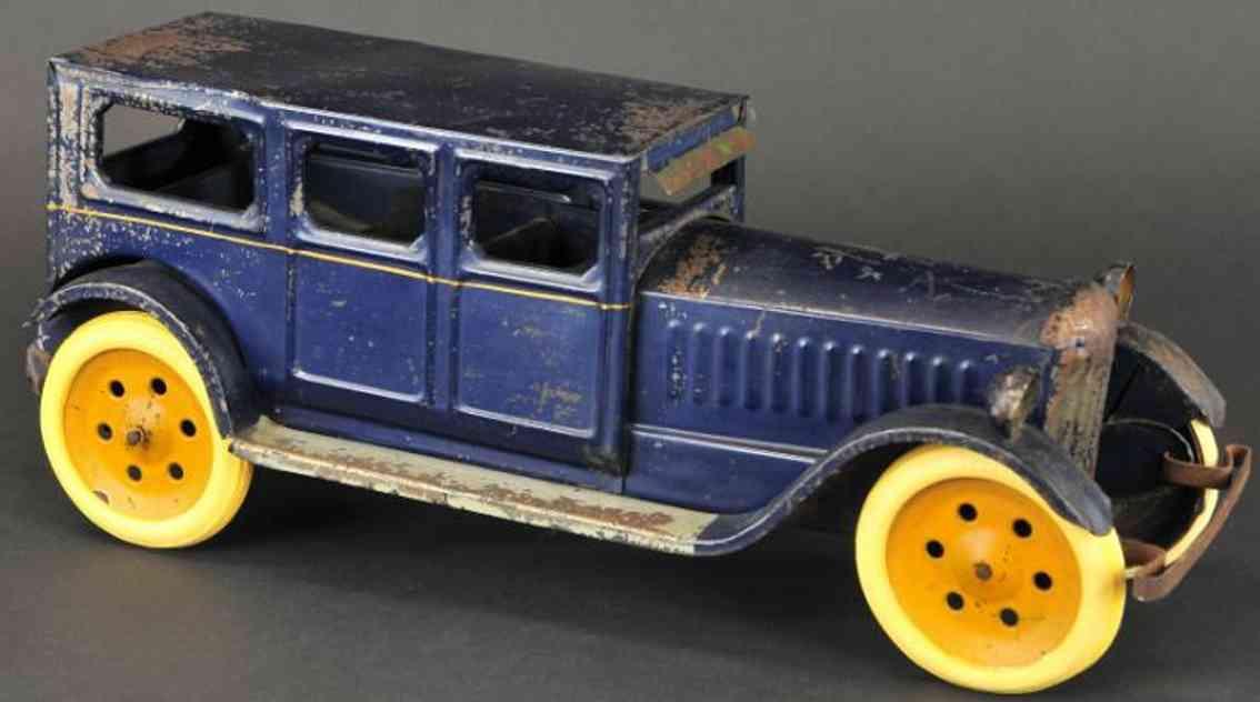 schieble stahl blech spielzeug auto blau
