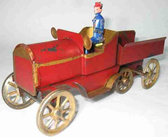Schieble Oldtimer Bergkletterwagen aus gepreßtem Stahl mit Schwungradantrieb