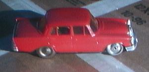 schuco 1001 blech spielzeug auto mercedes rot