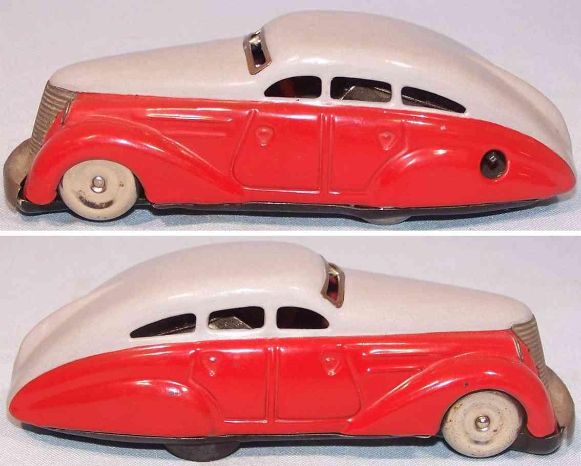 schuco 1010 blech spielzeug auto limousine rot gray