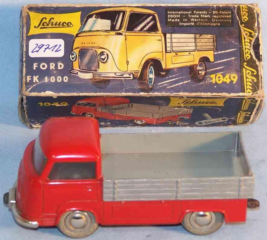 schuco 1049 blech spielzeug lastwagen micro racer ford fk
